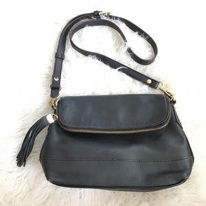 Antonio Melani fold over tassel cross body purse